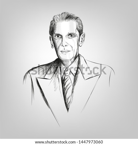 Quaid-e-Azam Muhammad Ali jinnah 25th December (Founder of Pakistan) birthday celebration with English calligraphy in multi background vector of Flag moon and star. - Vector