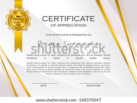 Certificate Of Appreciation Template Design Download Free Vector