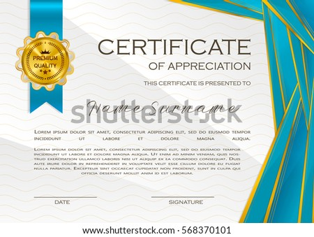 Black And Golden Certificate Of Appriciation Download Free Vector