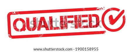 Qualified Rubber Stamp. Red Qualified Rubber Stamp - Seal Vector Illustration
