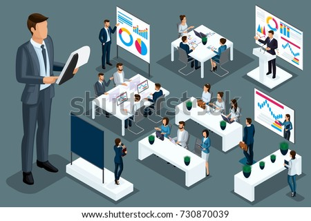 Qualitative Isometry a set of compositions for presentations and successful advertising for learning and coaching. Detailed study of business characters in different poses.
