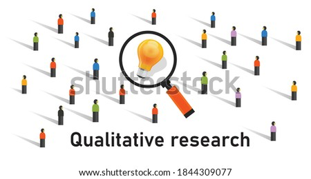 qualitative research method statistics survey get data from market research analysis Foto d'archivio ©