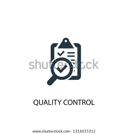 quality control icon. Simple element illustration. quality control concept symbol design. Can be used for web and mobile.