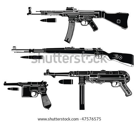 Quality German Arms Vectors This Is Sub Machine Guns