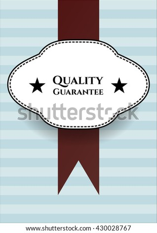 Quality Guarantee poster or banner