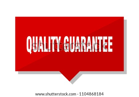 quality guarantee red square price tag