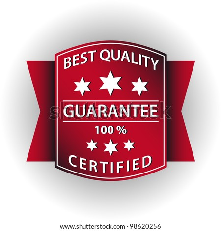 Quality guarantee red stamp