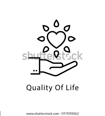 Quality of Life Vector Line Icon