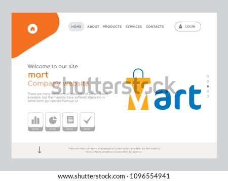 quality one page mart website