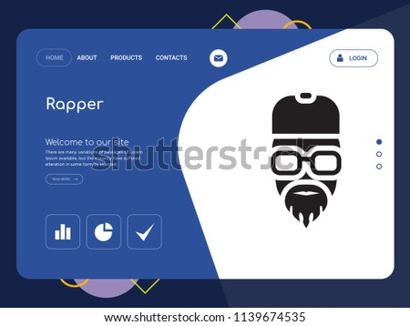 quality one page rapper website