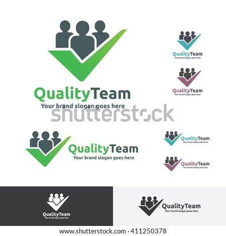 Quality Team Logo with check symbol