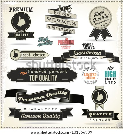 quality  vintage style labels