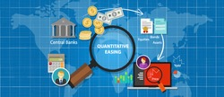 quantitative easing financial concept monetary stimulus money economic