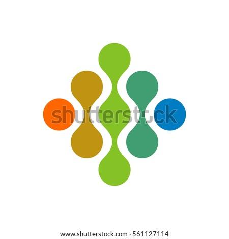 quantum dots logo template
