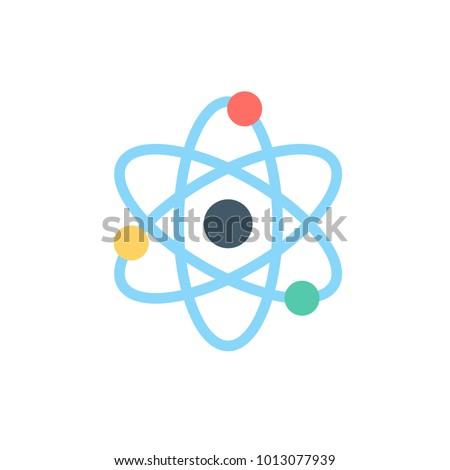 quantum icon flat style vector