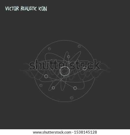 Quantum physics icon line element. Vector illustration of quantum physics icon line isolated on clean background for your web mobile app logo design.