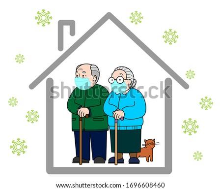 quarantine concept an elderly