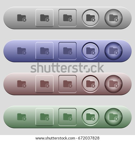Quarantine directory icons on rounded horizontal menu bars in different colors and button styles #672037828