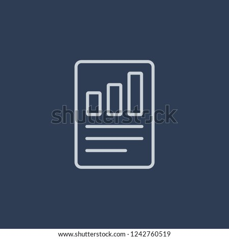 Quarterly report icon. Trendy flat vector line Quarterly report icon on dark blue background from business   collection.