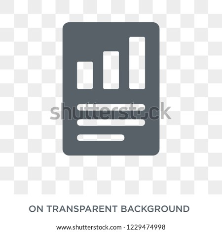 Quarterly report icon. Trendy flat vector Quarterly report icon on transparent background from business   collection.