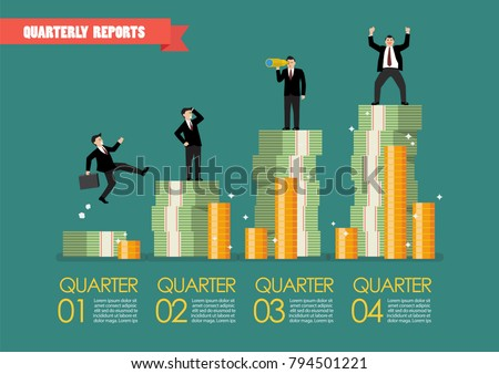 quarterly reports infographic