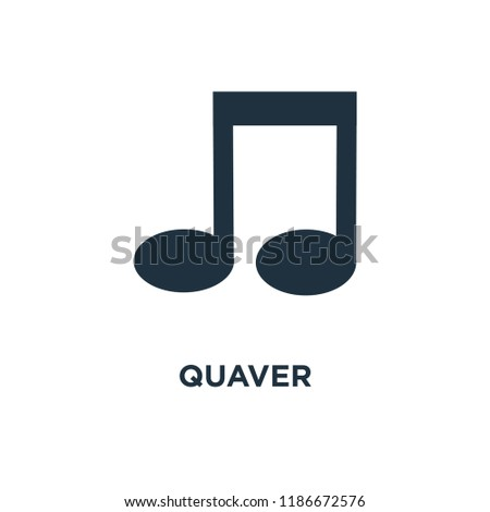Quaver icon. Black filled vector illustration. Quaver symbol on white background. Can be used in web and mobile.