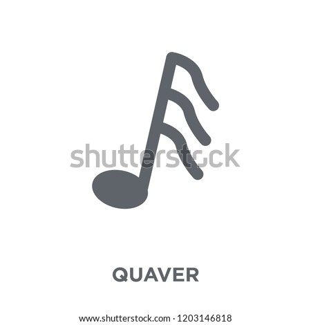 Quaver icon. Quaver design concept from  collection. Simple element vector illustration on white background.