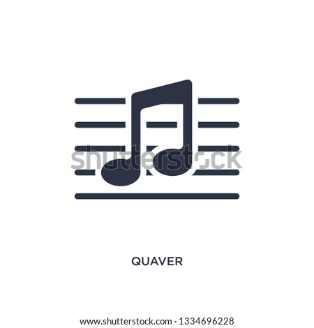 quaver icon. Simple element illustration from music and media concept. quaver editable symbol design on white background. Can be use for web and mobile.