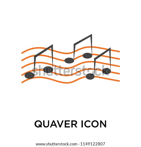 Quaver icon vector isolated on white background for your web and mobile app design, Quaver logo concept