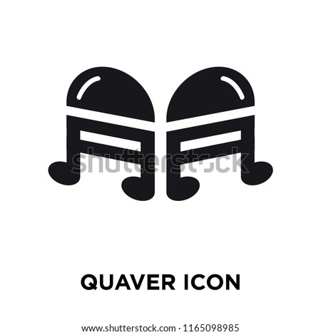 Quaver icon vector isolated on white background, Quaver transparent sign , celebration pictograms