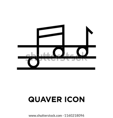Quaver icon vector isolated on white background, Quaver transparent sign , linear symbol and stroke design elements in outline style