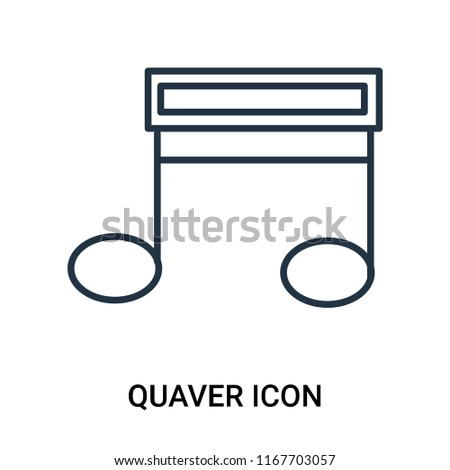Quaver icon vector isolated on white background, Quaver transparent sign , outline linear symbol or line shape
