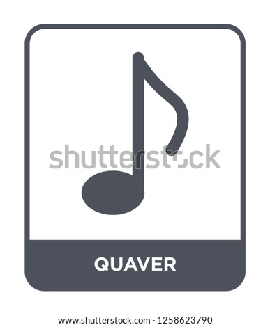 quaver icon vector on white background, quaver trendy filled icons from Music and media collection, quaver simple element illustration