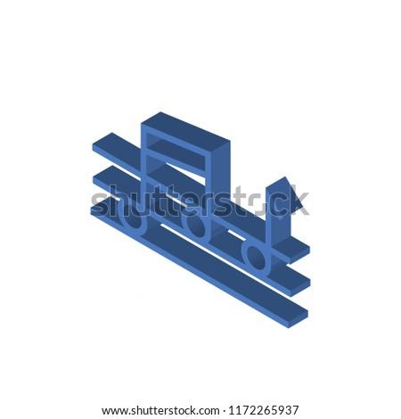 Quaver isometric left top view 3D icon