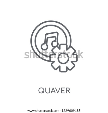 Quaver linear icon. Modern outline Quaver logo concept on white background from Music collection. Suitable for use on web apps, mobile apps and print media.