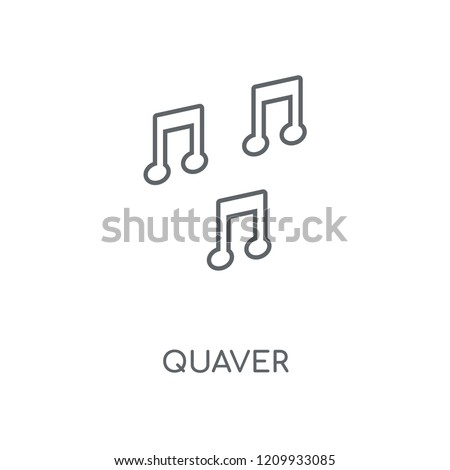 Quaver linear icon. Quaver concept stroke symbol design. Thin graphic elements vector illustration, outline pattern on a white background, eps 10.