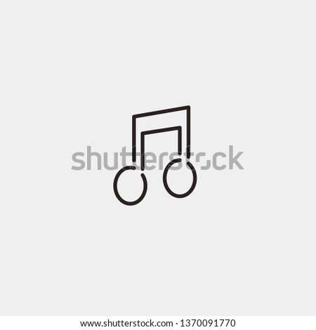 Quaver Music Note vector icon. Quaver Music Note concept stroke symbol design. Thin graphic elements vector illustration, outline pattern for your web site design, logo, UI. EPS 10.