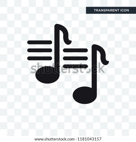 quaver note vector icon isolated on transparent background, quaver note logo concept