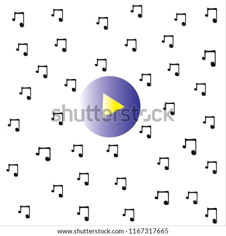 quaver notes and play butten