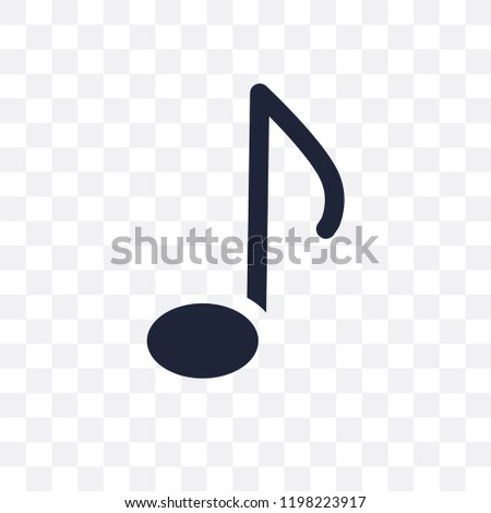 Quaver transparent icon. Quaver symbol design from Music collection. Simple element vector illustration on transparent background.