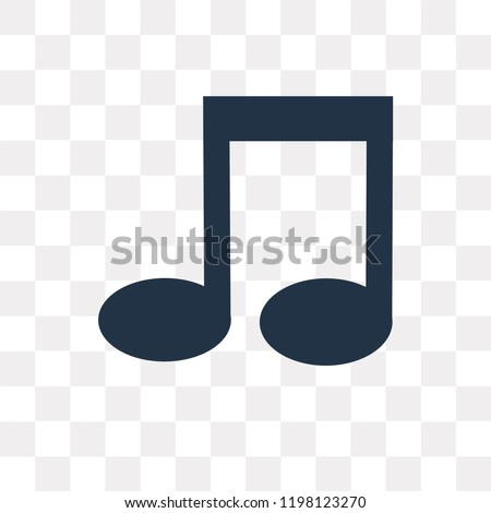Quaver vector icon isolated on transparent background, Quaver transparency concept can be used web and mobile