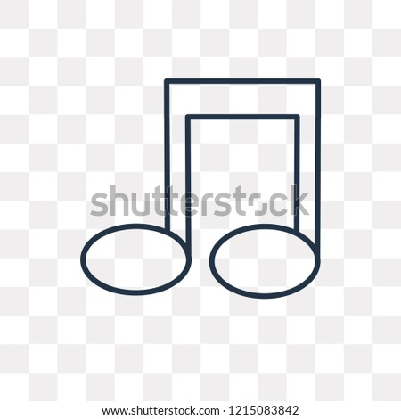 Quaver vector outline icon isolated on transparent background, high quality linear Quaver transparency concept can be used web and mobile