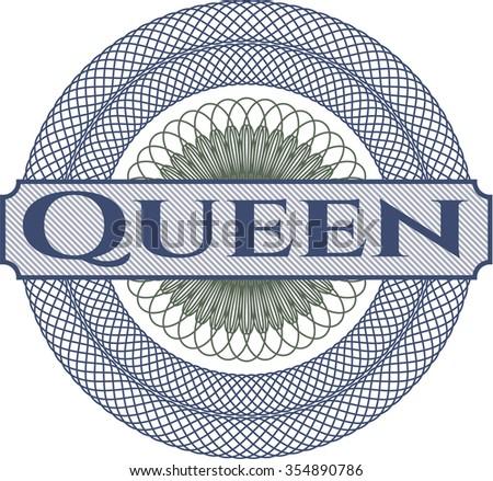 Queen abstract linear rosette