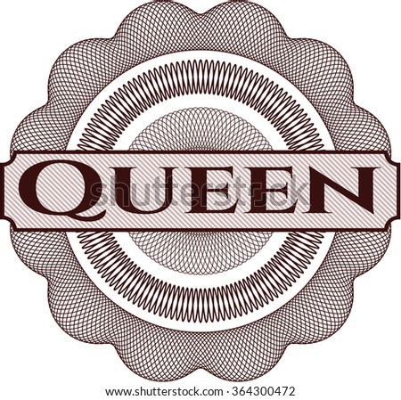 Queen abstract linear rosette