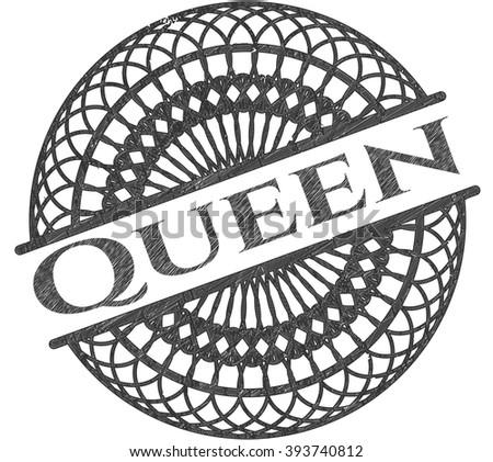 Queen drawn in pencil