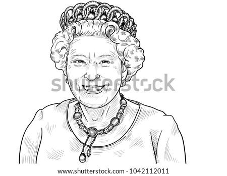 queen elizabeth ii vector