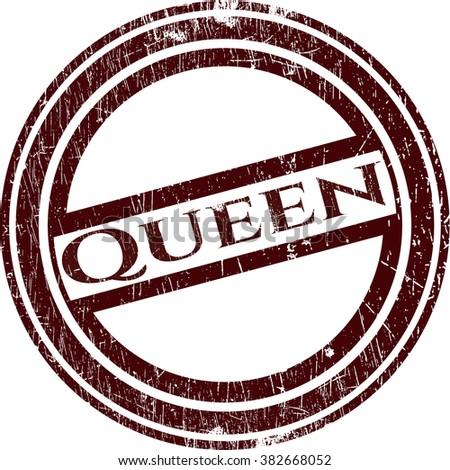 Queen grunge style stamp