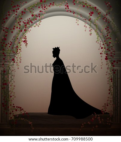 queen in the castle window