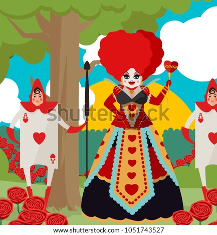 queen of hearts with staff