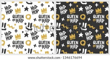 queen of rap graffiti seamless